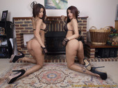 Preeti Young & Priya Young Fireplace