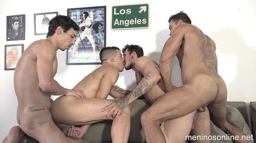 MeninosOnline - Junior Peixoto, Alex Hunter, Jonathan Miranda & Hugo Bareback