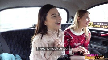 FemaleFakeTaxi Anna Di Cherry Kiss and Hayli Sanders E241