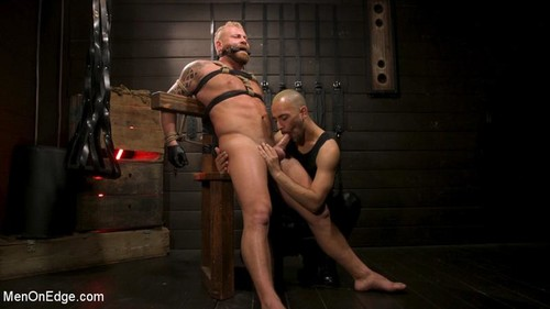 MenOnEdge - Roped In: Muscle Dom Riley Mitchell Bound and Edged