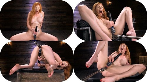 Lauren Phillips - Busty Redhead Lauren Phillips Gets Machine Fucked In The Dungeon (2019/HD) FuckingMachines