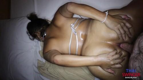 Thaiswinger.com - Silver Bikini Anal & Pussy Creampie POV