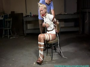 Amanda Foxx Hogtied - Bondage and discipline