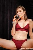 Serena Wood Glass Of Wine