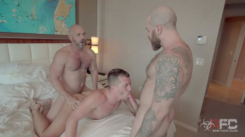 RawFuckClub - Tag Team Daddy Breeders (Owen Hawk, Shawn Andrews & Nigel March) Bareback (Aug 11)
