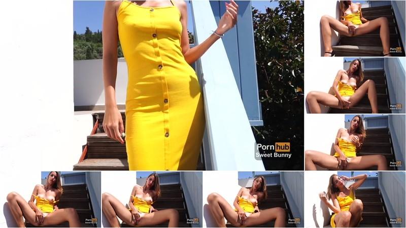 Sweet Bunny - Public Masturbation On The Hotel Stairs [FullHD 1080P]