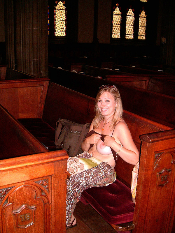 flashing in church