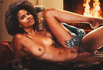 Zazie Beetz naked spread legs UHQ