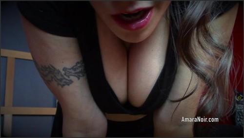 Spitty Titty Sub's Tease - Amara Noir  - iwantclips