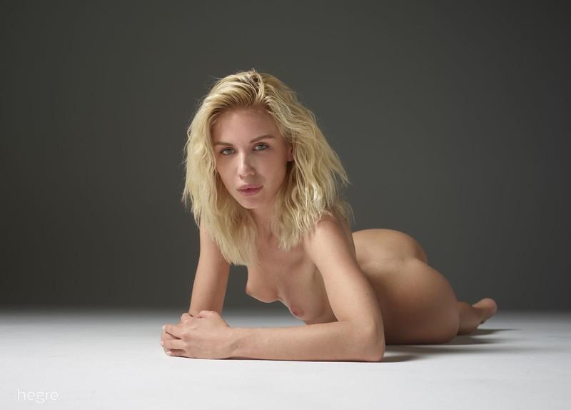 Miss Moscow Marika peeling off panties in studio