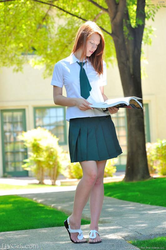 Schoolgirl in Green