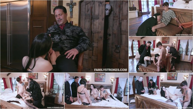 Kate Bloom And Audrey Noir Addams Family Orgy [FullHD 1080P]